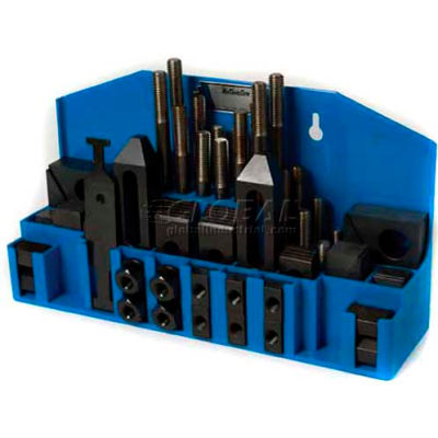 """Import 52 Pc Step Block & Clamp Set W/Fitted Rack 3/8""""-16 for 9/16"""" Slot"""