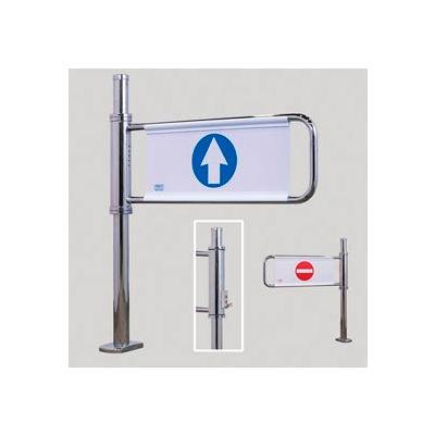 Electronically Locking Swing Gate w/ Left Handed Entrance - Satin Chrome