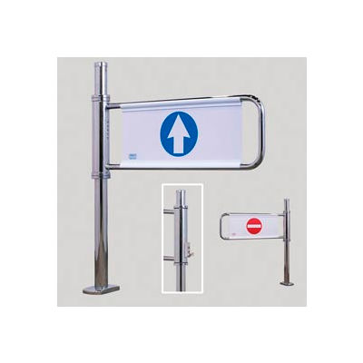 Manual Locking Swing Gate w/ Left Handed Exit - Mirror Chrome