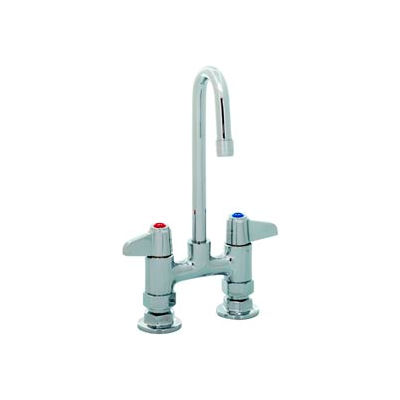 """Equip by T&S 5F-4DLX00 4"""" Deck Mount Mixing Faucet Swivel, Base Only, Less Spout"""