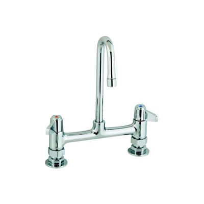 "Equip by T&S 5F-8DLX00 8"" Deck Mount Mixing Faucet Swivel Base"