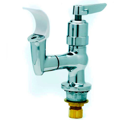 T&S Brass B-2360-01 Bubbler, Flexible Mouth Guard, Push Button Metering Handle