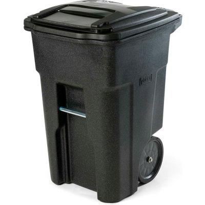 Toter Heavy Duty Two-Wheel Trash Cart, 48 Gallon, Blackstone - ANA48-56599