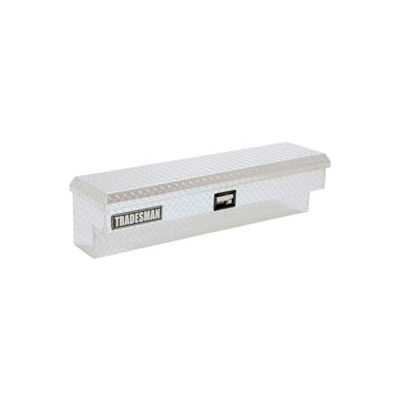 "70"" Aluminum Side Bin Box w/ Paddle Handle - Bright 9772"