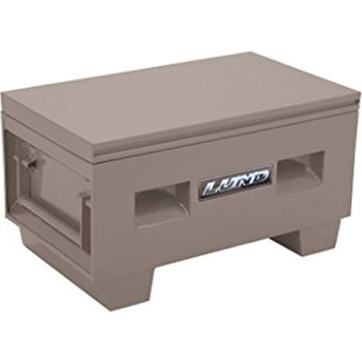 "Lund 08036G Heavy-Duty Small 32"" Gray Steel Job Site Box"