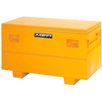 """Lund 08036Y Heavy-Duty Small 32"""" Yellow Steel Job Site Box"""
