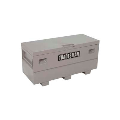 "Lund 08060G Heavy-Duty Large 60"" Gray Steel Job Site Box"