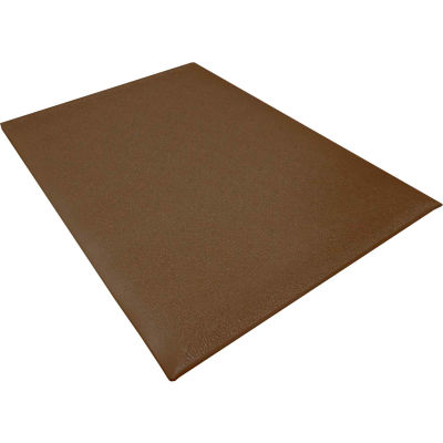 "Transforming Technologies ESD Anti-Fatigue Floor Mat 3/8"" Thick 2' x 3' Brown"