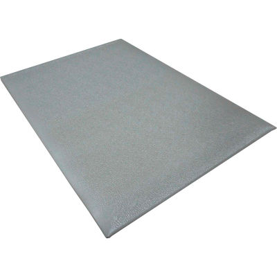 "Transforming Technologies ESD Anti-Fatigue Floor Mat 3/8"" Thick 4' x 60' Gray"