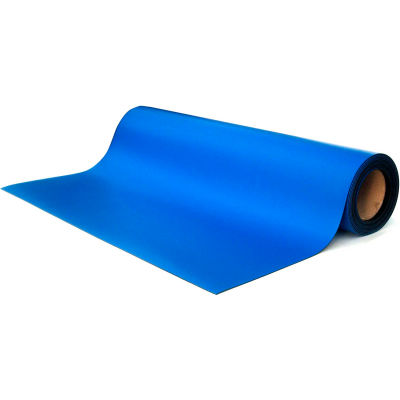 """Transforming Tech MT4500 Series ESD Rubber Matting, 0.80"""" Thick, 36""""W Full 50 Ft Roll, Royal Blue"""