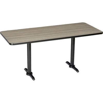 "Interion® Restaurant & Lunchroom Counter Height Table, 72""Lx30""Wx36""H, Charcoal"
