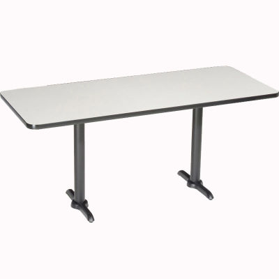 "Interion® Restaurant & Lunchroom Counter Height Table, 60""Lx30""Wx36""H, Gray"