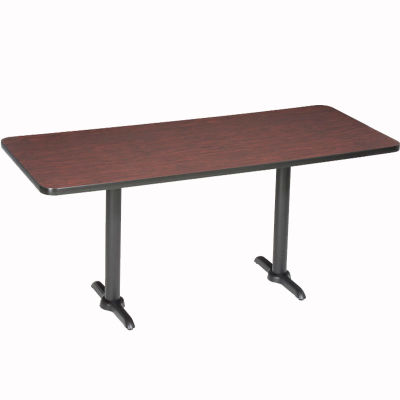 "Interion® Restaurant & Lunchroom Counter Height Table, 60""Lx30""Wx36""H, Mahogany"