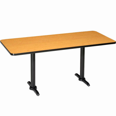 "Interion® Restaurant & Lunchroom Counter Height Table, 72""Lx30""Wx36""H, Oak"