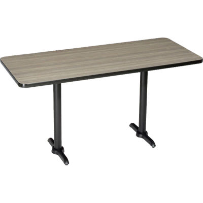 "Interion® Restaurant & Lunchroom Bar Height Table, 72""Lx30""Wx42""H, Charcoal"