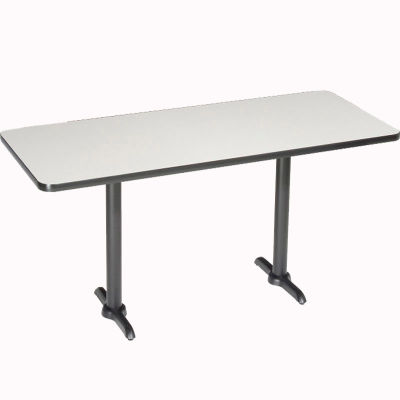 "Interion® Restaurant & Lunchroom Bar Height Table, 60""Lx30""Wx42""H, Gray"