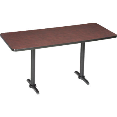 """Interion® Restaurant & Lunchroom Bar Height Table, 60""""Lx30""""Wx42""""H, Mahogany"""