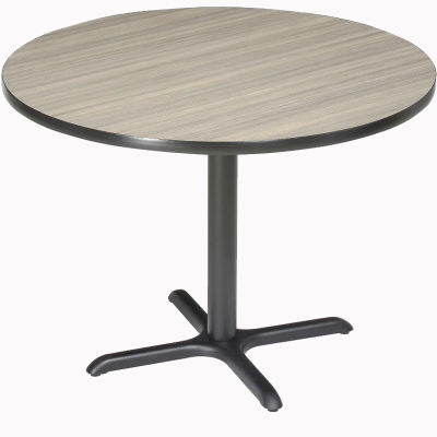 """Interion® 36"""" Round Restaurant & Lunchroom Counter Height Table, Charcoal"""