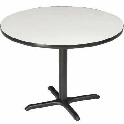 "Interion® 36"" Round Restaurant & Lunchroom Counter Height Table, Gray"