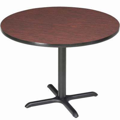 "Interion® 42"" Round Restaurant & Lunchroom Counter Height Table, Mahogany"