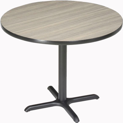 """Interion® 36"""" Round Restaurant & Lunchroom Bar Height Table, Charcoal"""