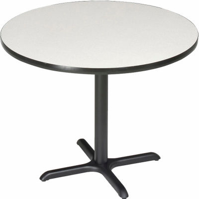 """Interion® 36"""" Round Restaurant & Lunchroom Bar Height Table, Gray"""