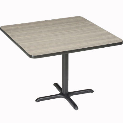 """Interion® Restaurant & Lunchroom Square Counter Height Table, 42""""Lx42""""Wx36""""H, Charcoal"""