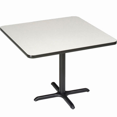 "Interion® Restaurant & Lunchroom Square Counter Height Table, 42""Lx42""Wx36""H, Gray"
