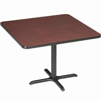 """Interion® Restaurant & Lunchroom Square Counter Height Table, 42""""Lx42""""Wx36""""H, Mahogany"""