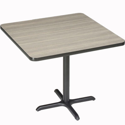 """Interion® Restaurant & Lunchroom Square Bar Height Table, 36""""Lx36""""Wx42""""H, Charcoal"""