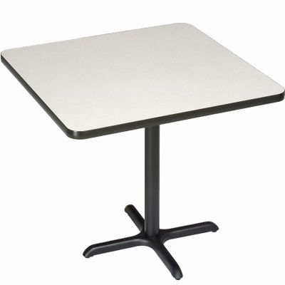 """Interion® Restaurant & Lunchroom Square Bar Height Table, 36""""Lx36""""Wx42""""H, Gray"""