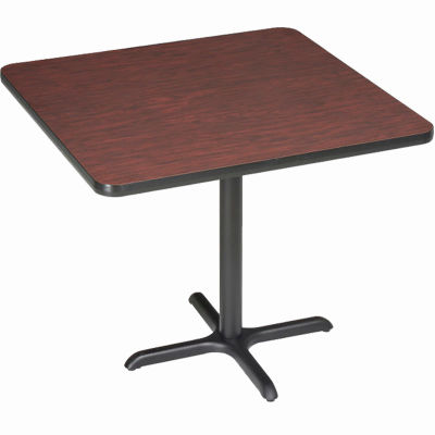 "Interion® Restaurant & Lunchroom Square Bar Height Table, 42""Lx42""Wx42""H, Mahogany"