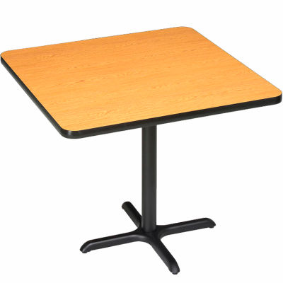 """Interion® Restaurant & Lunchroom Square Bar Height Table, 36""""Lx36""""Wx42""""H, Oak"""