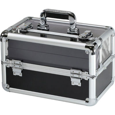 """TZ Case Beauty Makeup Case with See-Through Lid AB-116T S -14-1/2""""L x 8-1/4""""W x 9-1/4""""H - Silver"""