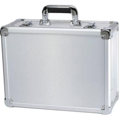 """TZ Case Executive Aluminum Storage Case EXC-115-S - 16-1/2""""L x 12-1/2""""W x 7-3/8""""H Silver"""