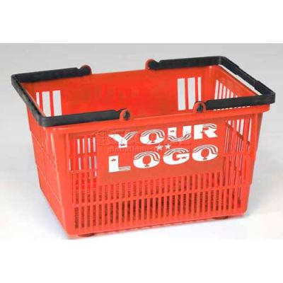 "Good L ® Tall Plastic Shopping Basket with Plastic Handle 19 Liter 16""L x 12""W x 10""H, Emerald - Pkg Qty 12"