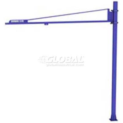 Gorbel® LD Free Standing Tool Solutions Jib Crane, 10' Span & 10' Height Under Boom, 50 Lb Cap