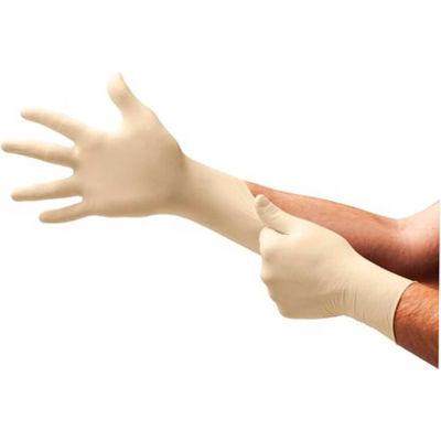 TouchNTuff® 69-210 Industrial Grade Latex Gloves, Powdered, Natural, L, 100 Gloves/Box