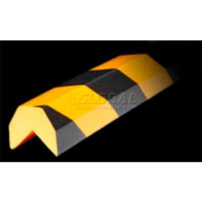 "Knuffi Corner Bumper Guard, Type AA, 196-3/4""L x 1-1/2""W x 1-1/2""H, Black & Yellow, 60-6810"