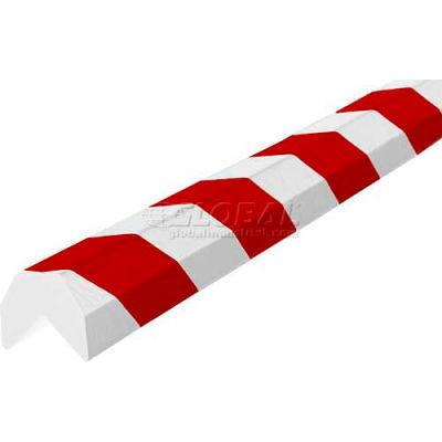 "Knuffi Corner Bumper Guard, Type AA, 196-3/4""L x 1-1/2""W x 1-1/2""H, Red & White, 60-6810-2"