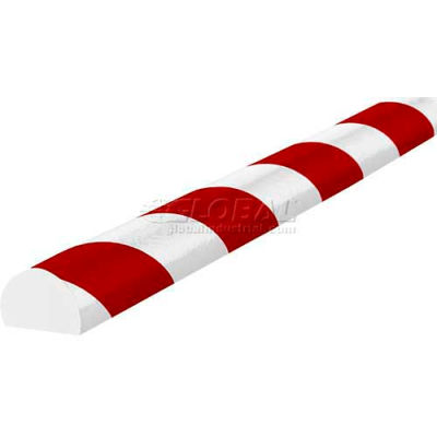 "Knuffi Surface Bumper Guard, Type C, 196-3/4""L x 1-9/16""W, Red & White, 60-6720-2"