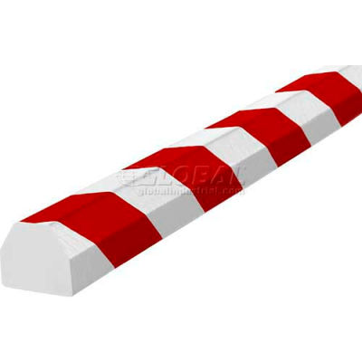 "Knuffi Surface Bumper Guard, Type CC, 196-3/4""L x 1-1/2""W x 1-1/2""H, Red & White, 60-6830-2"