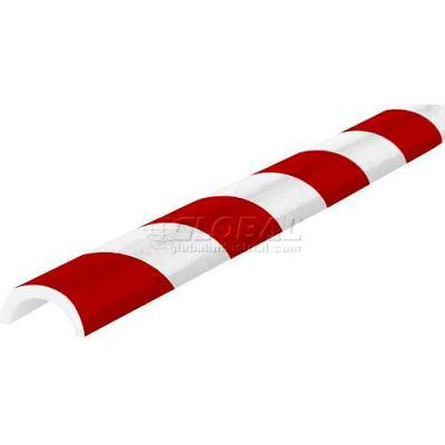 "Knuffi Pipe Bumper Guard, Type R30, 196-3/4""L x 2""W x 1""H, Red & White, 60-6792-2"