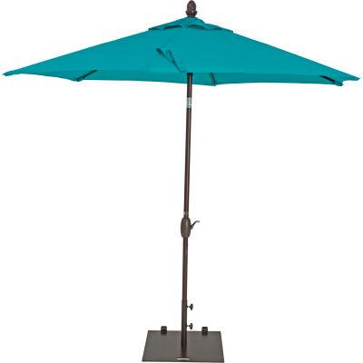 TrueShade® 9' Garden Parasol Umbrella - Push Button Tilt and Crank - Aruba