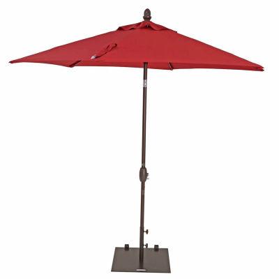 TrueShade® 9' Garden Parasol Umbrella - Push Button Tilt and Crank - Jockey Red