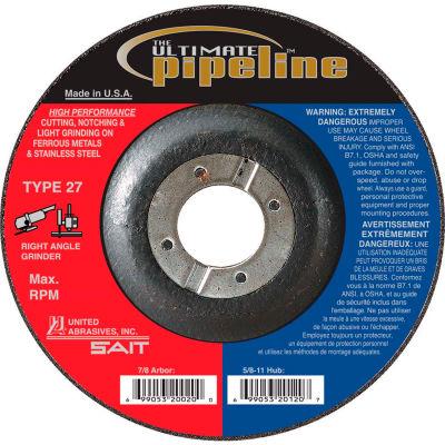 "United Abrasives - Sait 20025 Depressed Center Wheel T27 5-1/2""x 1/8"" x 7/8"" Proprietary Grain - Pkg Qty 25"
