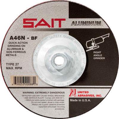 "United Abrasives - Sait 20162 Depressed Center Wheel T27 4-1/2""x 1/4"" x 5/8-11"" 46 Grit Alum. Oxide - Pkg Qty 10"