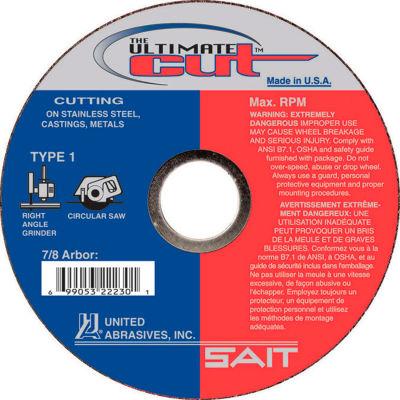 "United Abrasives - Sait 22230 Cut Off Wheel Type 1 Ultimate Cut 4-1/2"" x .045"" x 7/8"" Blended - Pkg Qty 50"