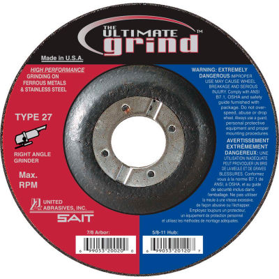 "United Abrasives - Sait 22417 Depressed Center Wheel T27 7""x 1/4"" x 7/8"" Proprietary Grain - Pkg Qty 25"