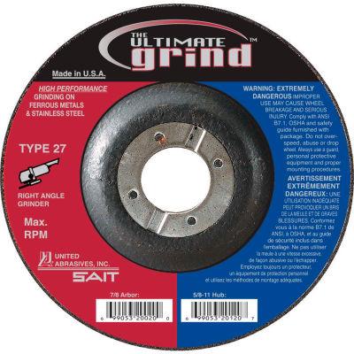 "United Abrasives - Sait 22419 Depressed Center Wheel T27 9""x 1/4"" x 7/8"" Proprietary Grain - Pkg Qty 25"